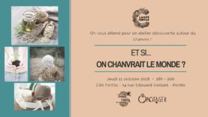 Atelier découverte du chanvre le 11 octobre de 18h à 20h à la cité fertile